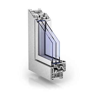 Aluclip kunststoff opitz for Alu kunststofffenster